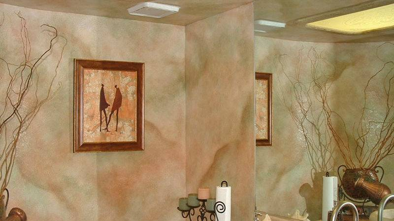 Faux Wall Finishes Examples Hand Painted