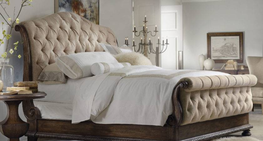 Favored King Tufted Bed Camelback Headboards