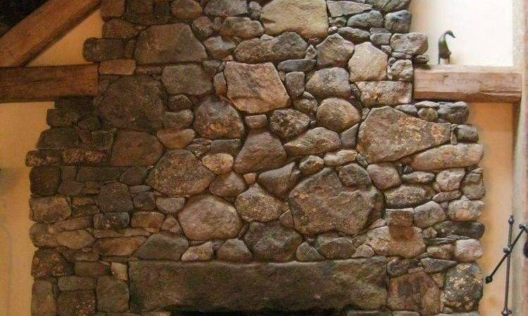 Fieldstone Fireplace Granite Lintel Hearth