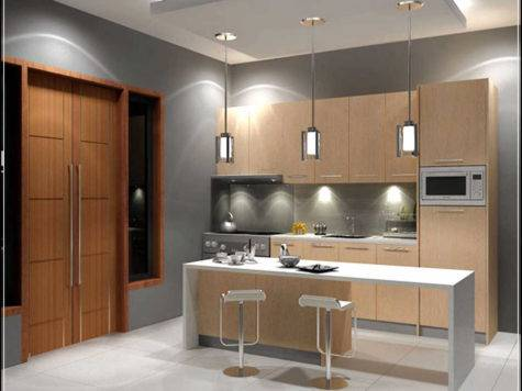 Fill Gap Small Modern Kitchen Designs