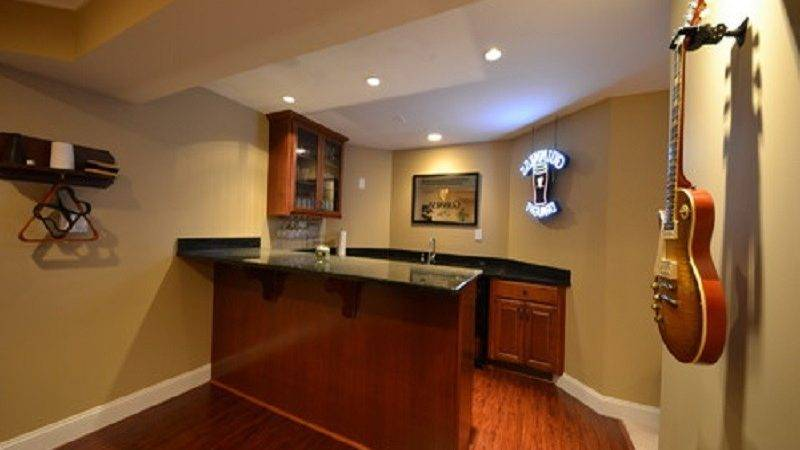 Finished Basement Wet Bar Ideas Wall Mounted Cabinet
