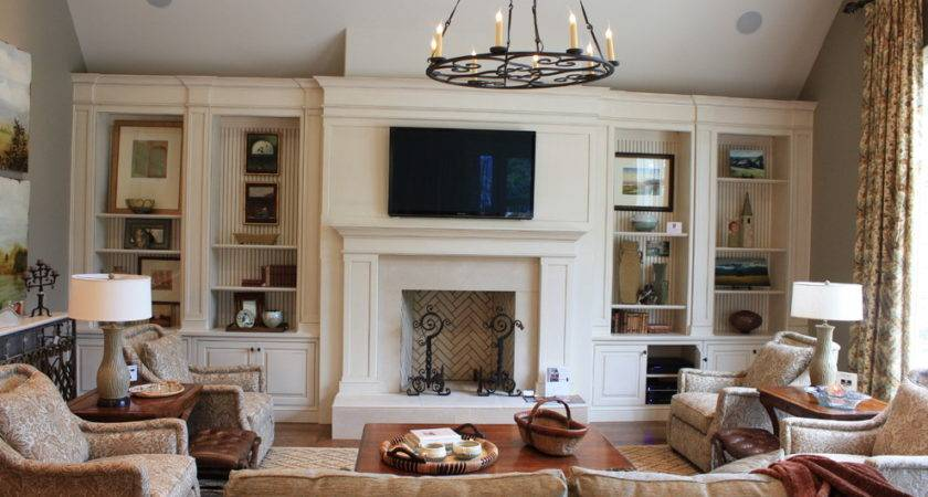 Fireplace Built Ins Living Room Traditional Ceiling
