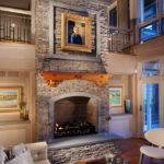 Fireplace Ideas Stone Living Room Contemporary