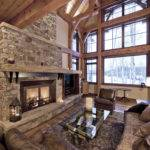 Fireplace Ideas Stone Living Room Traditional Aspens