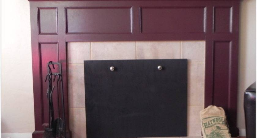 Fireplace Opening Cover Concept Cute Homes