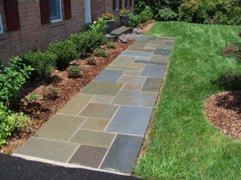 Flagstone Patio Patterns Walkway Designs Inexpensive