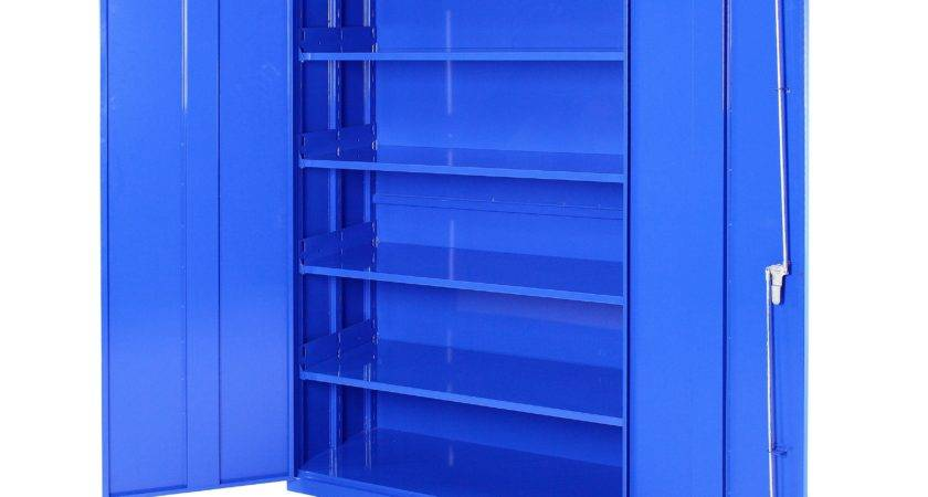 Floating Blue Wooden Storage Shelves Also Double