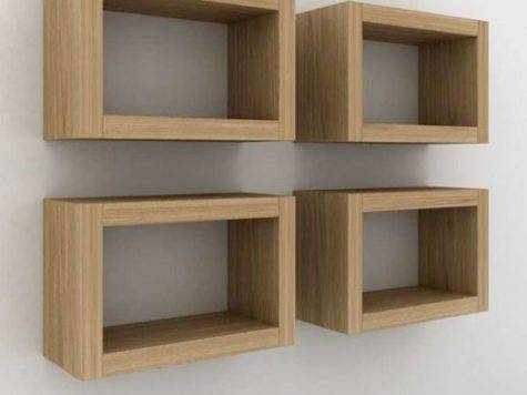 Floating Box Shelves Wood Empire