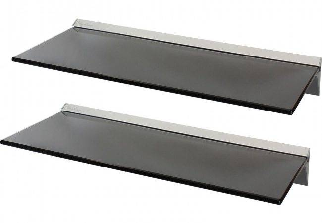 Floating Glass Wall Shelves Black Hartleys
