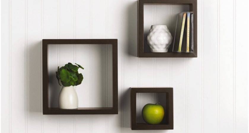 Floating Mdf Wall Mount Shelf Cube