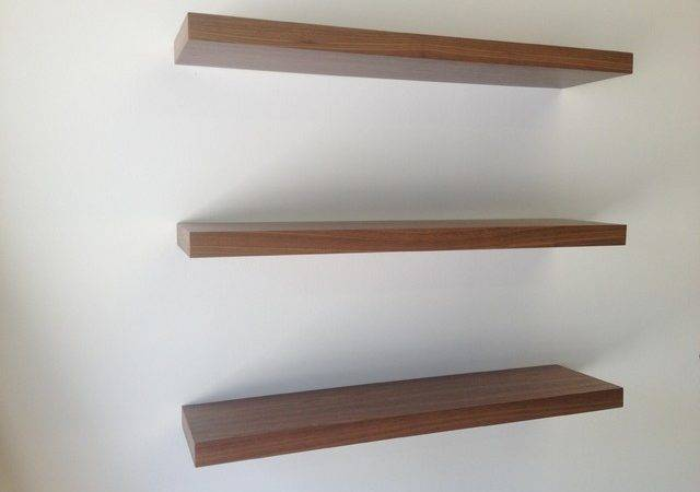 Floating Shelves Contemporary Display Wall
