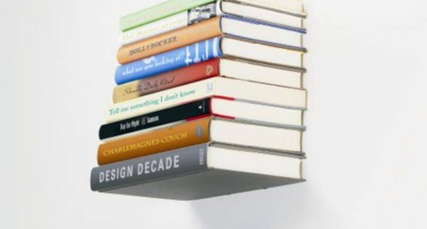 Floating Small Book Shelf Wall Mount Invisible Bookshelf