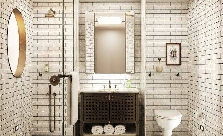 Floor Ceiling Subway Tile Bathroom Ideas