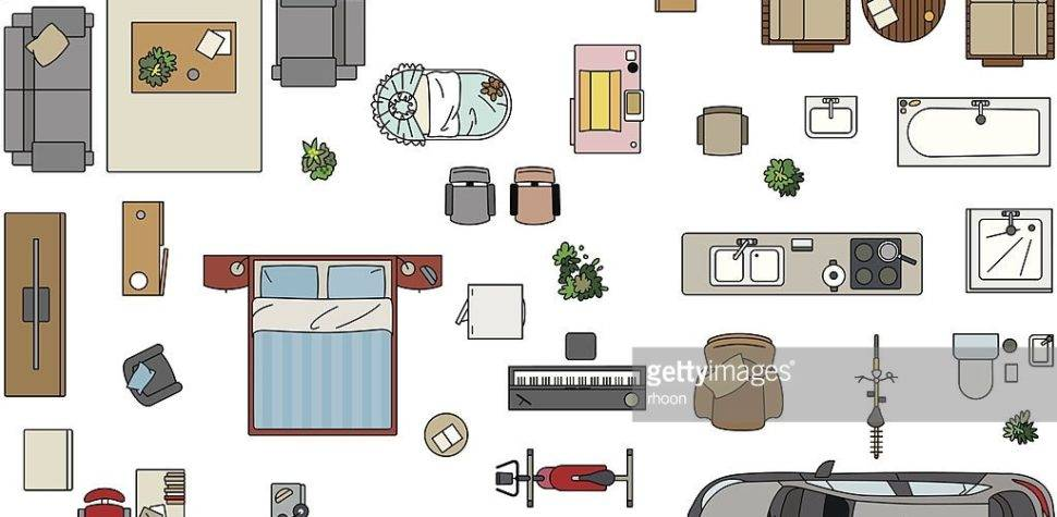 Floor Plan Furniture Vector Art Getty