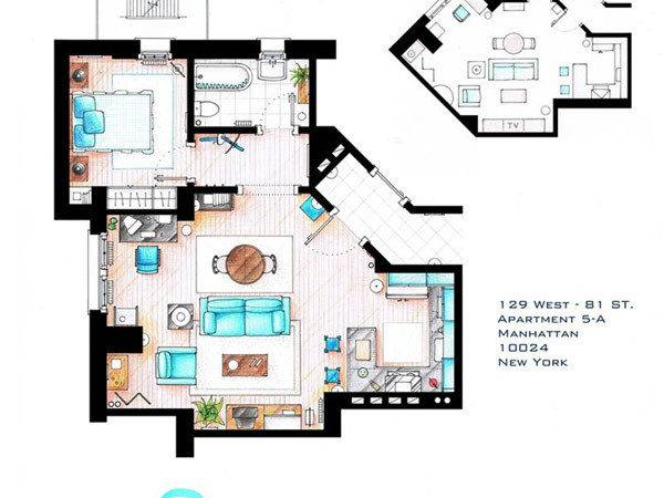 Floor Plans Most Famous Apartments