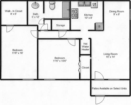 Floor Plans Seville Apartments Odessa Texas