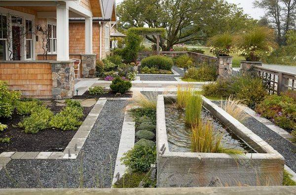 Forget Traditional Look Modern Front Yard