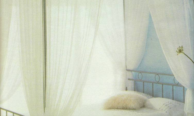 Four Poster Bed Curtains Drapes Ready Made Tab Top