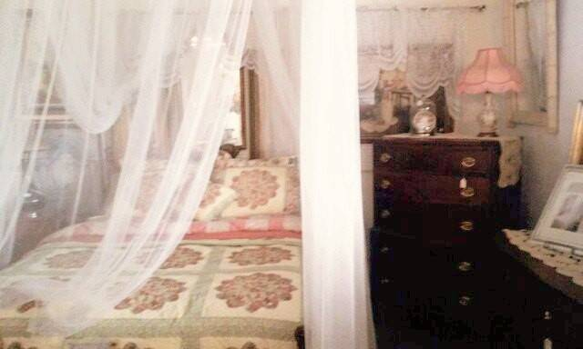Four Poster Bed Curtains White Lace Canopy