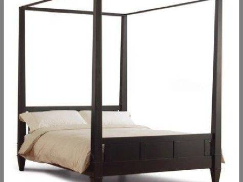 Four Poster Canopy Wood Bed Frame Wooden