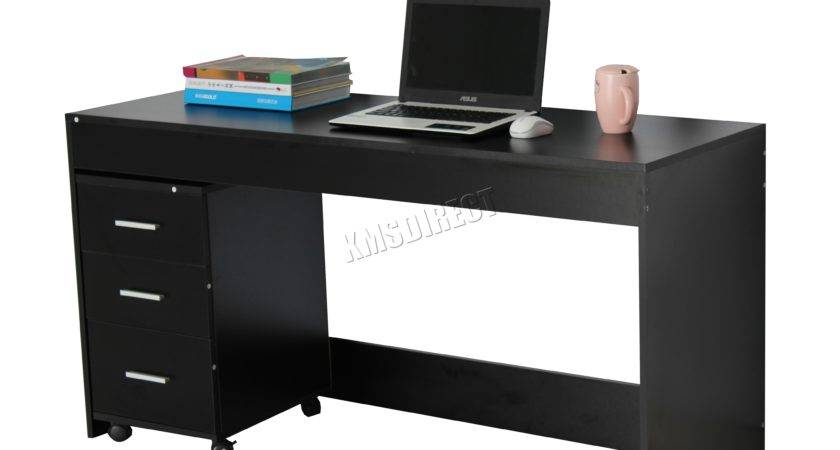 Foxhunter Computer Desk Table Drawers Home