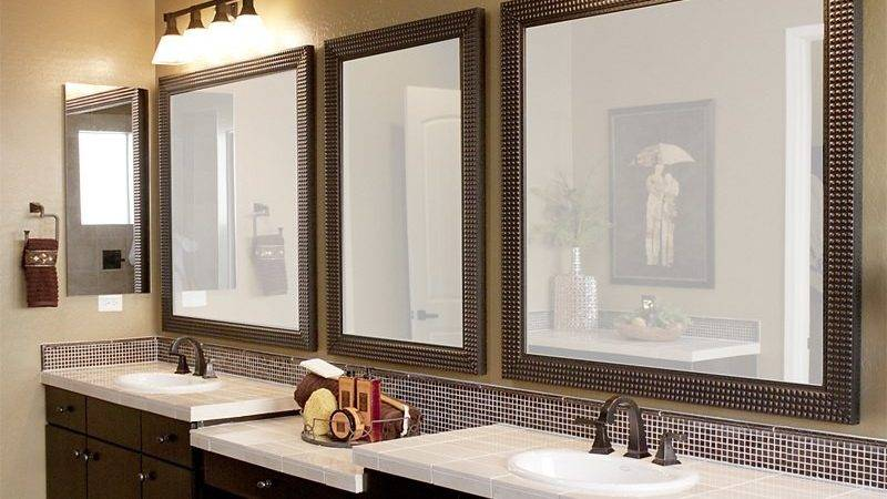 Framed Bathroom Mirrors Designs Ideas