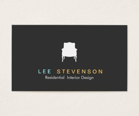 French Chair Logo Interior Designer Business Card Zazzle