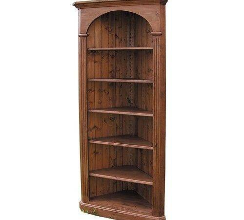 French Country Furniture Domed Corner Bookcase Made