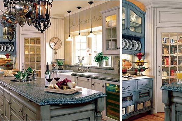 French Kitchen Country Decor Curtains Cabinets Table