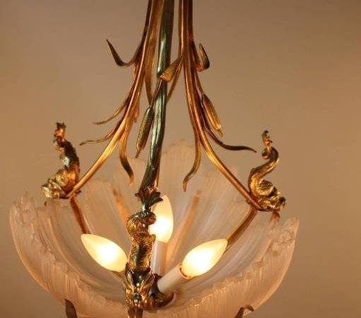 French Unique Bronze Crystal Chandelier Sale