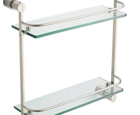Fresca Magnifico Tier Glass Shelf Brushed Nickel