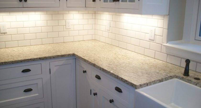 Fresh Cool White Subway Tile Backsplash Grout Color