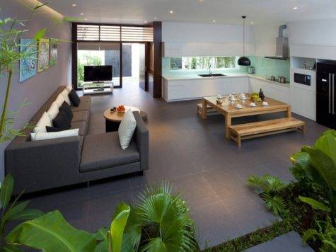 Fresh Home Open Living Area Internal Courtyard