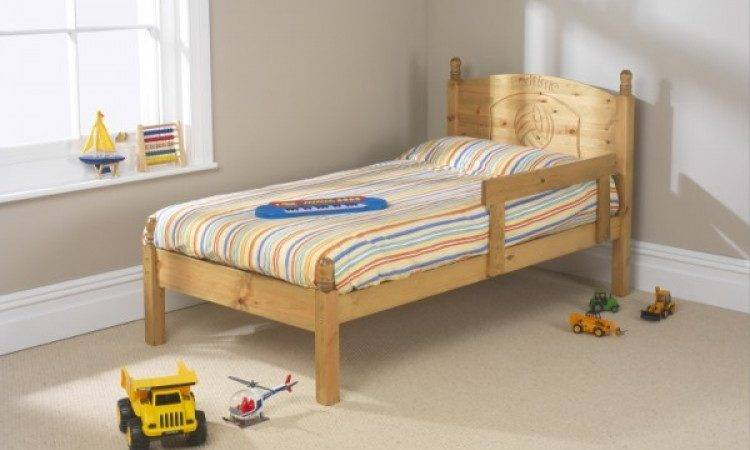 Friendship Mill Football Small Single Pine Wooden Bed
