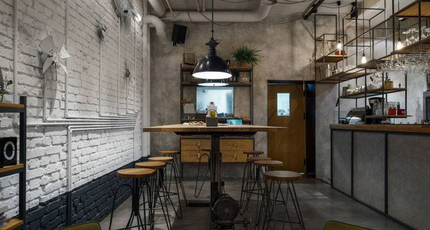 Furniture Cafe Modern Industrial Style Current Trend