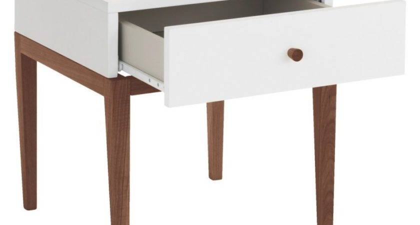 Furniture Carrington Drawer Nightstand Ivory White