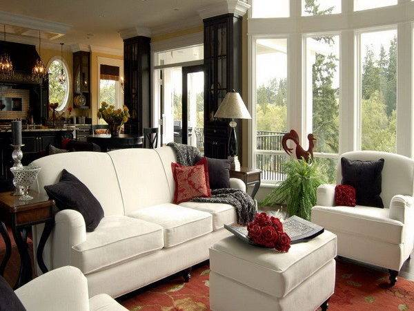 Furniture Contemporary White Bachelor Apartment