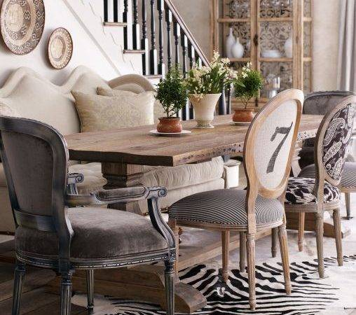 Furniture Eclectic Dining Table Room