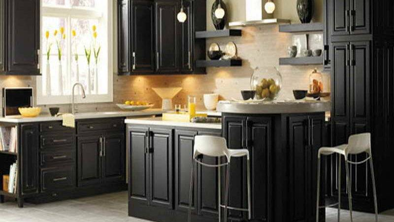 Furniture Kitchen Cabinet Painting Ideas Dark Colors
