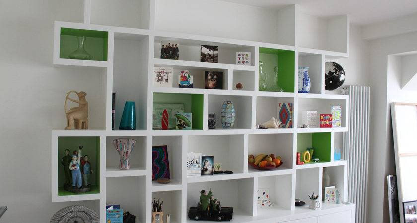 Furniture Modern Fitted Bookcase Simple