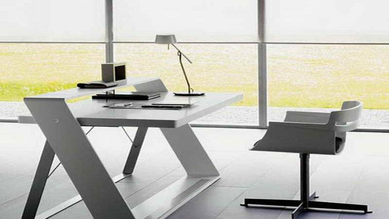 Furniture Modern Small Desk Spaces Office