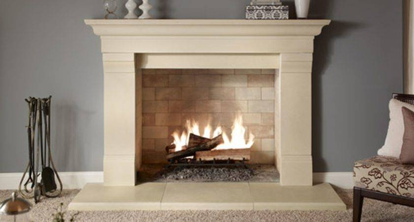 Furniture Modern Stone Fireplace Design Ideas