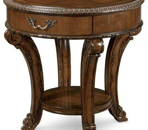 Furniture Old World Round End Table Traditional