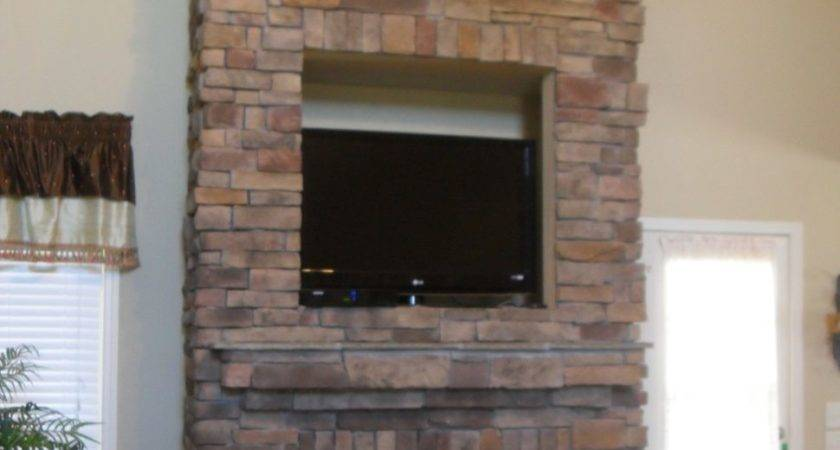 Furniture Pretty Stacked Stone Fireplace Surround