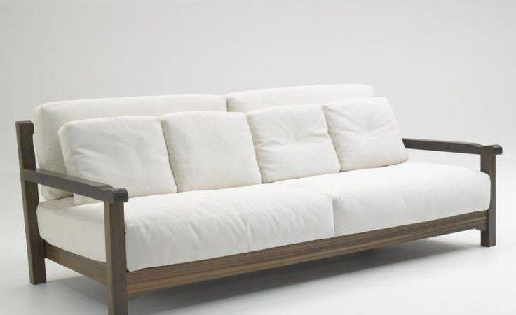 Furniture Simple Wood Sofa Design Modern White
