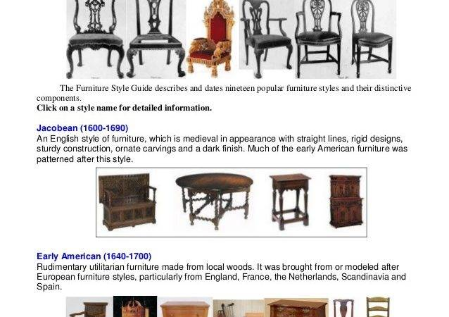Furniture Style Guid