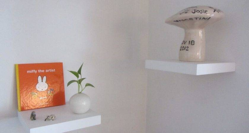 Furniture White Floating Shelves Make Your Objects