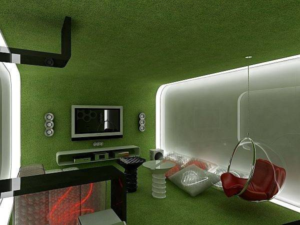 Future Perspective Over Interior Design Geometrix