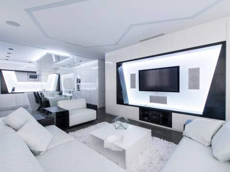 Futuristic Axioma Apartment Black White