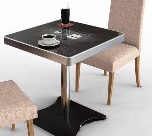 Futuristic Cafe Table Takes Orders Meals News